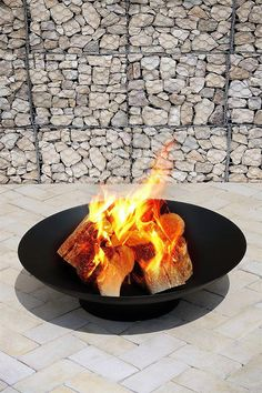 Large firepit black steel outdoor garden accessory | my furniture