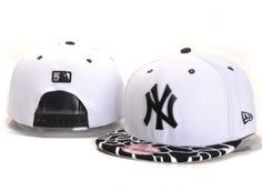 Casquette NY New York Yankees MLB Serpentin Snapback Blanc Casquette New Era Pas Cher