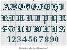 Free Easy Cross, Pattern Maker, PCStitch Charts + Free Historic Old Pattern Books: Alphabete und Muster zum Wäschezeichnen und Sticken III