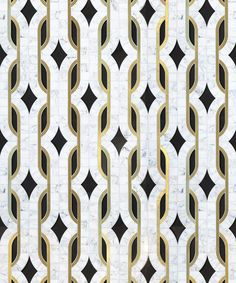 beautiful tiles - patterns accentuated by gold outlines - dundass-grande_image Floor Patterns, Tile Patterns, Textures Patterns, Floor Design, Tile Design, Pattern Design, Design Studio, Art Deco Design, Stone Tiles