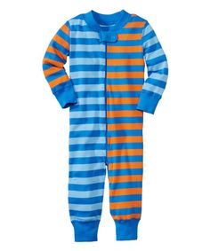 Look what I found on #zulily! Bluest Sky & Tiger Stripe Organic Playsuit - Infant & Toddler #zulilyfinds