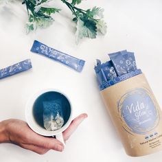 Vida Glow's Anna Lahey is a Walking, Talking Advertisement For Her Marine Collagen Products Coffee Sachets, Green Tea Soap, Collagen Drink, Tea Illustration, Cosmetic Design, Flat Lay Photography, Coffee Packaging, Packaging Design Inspiration, Active Ingredient