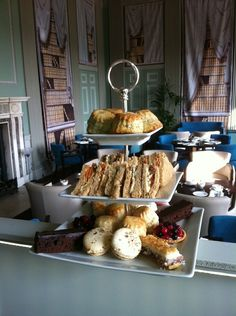 Delicious afternoon tea in Lady B's - 3 indulgent set menus available in the Outer Library, 12noon - 5pm on days when the mansion is open. We can't get enough of those yummy cakes. . .