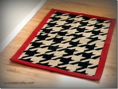 Paint a rug. Wow- i have a few old rugs that i could make look new again.  yay!!