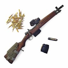 """Spanish FR-8 """"La Coruña"""" chambered in .308 Winchester received a box magazine conversion by Austrian gunmaker Voere"""
