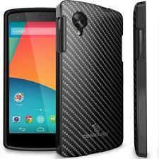 Caseology LG Google Nexus 5 Carbon Fiber Hybrid  TPU Armor Case Cover [Black]