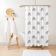 'Sleeping Princess' Shower Curtain by ArtIL Bird Shower Curtain, Custom Shower Curtains, Flower Curtain, Curtain Material, Photo Vintage, Pink Watercolor, Guest Bath, Minimalist Design, Home Decor