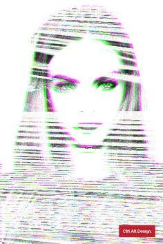 Glitch Art – Cara Delevingne by Ctrl Alt Design