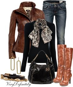 """""""Brown and Black"""" by verydefinitely on Polyvore"""