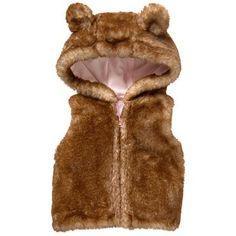 Toddler Girls Brown Bear Furry Cub Vest by Gymboree Toddler Vest, Toddler Girls, Vest Outfits, Lost Boys, Brown Bear, Gymboree, Cubs, Hoods