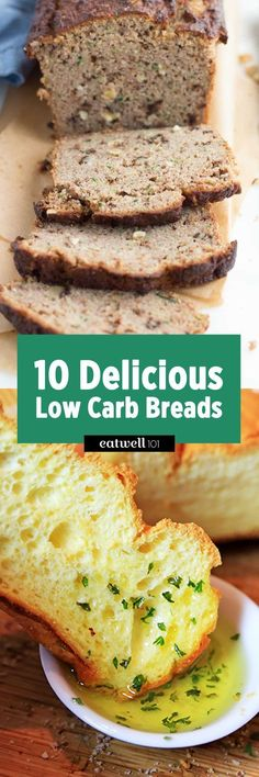 If you're trying to control your carbs, or need to avoid gluten, this selection of delicious low carb breads will add a nice variety to your breakfasts and lunches.