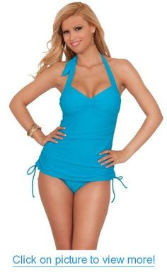 64de3e5af8c96 Amazon.com: Women One Piece Halter Slimming Ruched Shirred Side Drawstring  Retro Swimsuit: Clothing