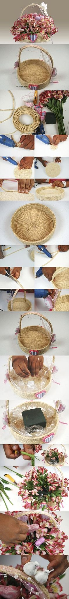 How to Crochet Rope Basket (FREE pattern)