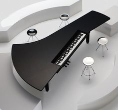 A great idea for a piano bar! Fazioli Pianos-- I know that this is a piano design but it would be cool to have a table in a similar design too! Piano Art, Le Piano, Piano Room, Piano Keys, Piano Music, Piano Table, Mundo Musical, Baby Grand Pianos, Digital Piano