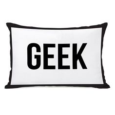 Gingham Geek Lumbar Pillow
