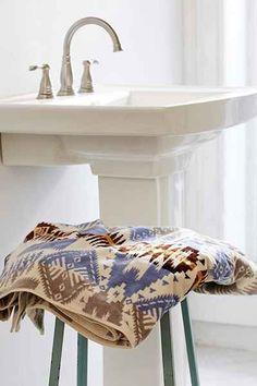 "NWT Pendleton Silver Bark Oversized Jacquard Cotton Bath Towel 30""x58"""