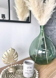 Vase Deco, Deco Restaurant, Grass Decor, Antique Bottles, Arte Floral, Centre Pieces, Home Living Room, Boho Decor, Fall Decor