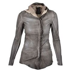 10SEI0OTTO Leather.. DONNA Spring Summer 2016, Ss16, The Row, Hoods, Leather Jacket, Grey, Jackets, Clothes, Shopping
