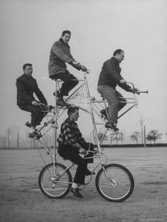 Eccentric Four-Man Bicycle Built by Art Rothchild