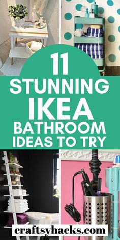 11 Stunning Ikea Bathroom Ideas for a Tiny Budget Decorate bathroom with these ikea bathroom ideas. Some of these ikea hacks can be used for other rooms too. Ikea Hack Bathroom, Small Bathroom Paint, Bathroom Ideas, Bathroom Organization, Bathroom Storage, Ikea Hacks, Feng Shui, Home Crafts, Diy Home Decor