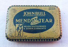John Bull Mend-a-Tear vintage tin. by essenzials on Etsy
