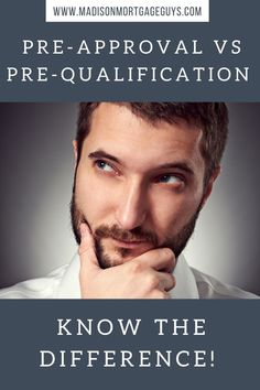 Mortgage Pre-Approval Vs Pre-Qualification Know the Difference! www.madisonmor  - Mortgage Amortization Calculator - Calculate your montly mortgage payment and remaining interest #mortgagecalculator #mortgagecalc -