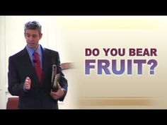 """Do You Bear Fruit? - Paul Washer (John 15) -   1""""I am the true vine, and My Father is the vinedresser. 2""""Every branch in Me that does not bear fruit, He takes away; and every branch that bears fruit, He prunes it so that it may bear more fruit"""" John 15:1,2."""