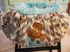 Noah's Ark Shopping Cart High Chair Cover by TWINSANDQUINN on Etsy https://www.etsy.com/listing/192354742/noahs-ark-shopping-cart-high-chair-cover