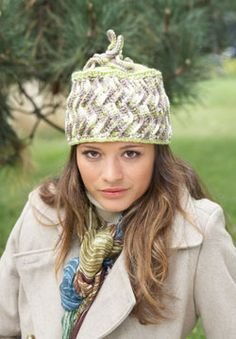 This charming, quirky Zig-Zag Hat is the perfect way to add a whimsical and stylish touch to your cool-weather wardrobe. Shown in Patons Classic Wool DK