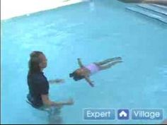 Infant Rollover Breathing While Swimming.  Swimming Lessons.  Teaching Kids to Swim.