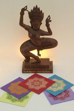 Handmade paper Mandala Cards from Elvin. Spirit of Mandala ॐ