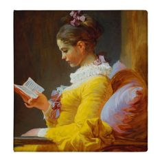 The Reader by Jean-Honore Fragonard 3 Ring Binder | Zazzle.com Renoir, Winslow Homer, Girl Reading, French Paintings, Art Paintings, Painting Portraits, Claude Monet, Fragonard Paintings, Canvas Art Prints