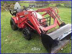 Honda H5518 Tractor with Loader. 4WD and 4 Wheel Steer. Front Ag Tires from ATV or other nonstandard size.
