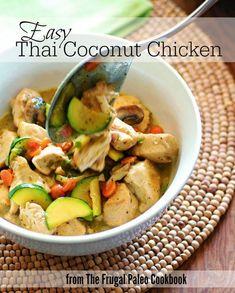 Thai Coconut Chicken :: #GlutenFree #GrainFree #DairyFree #Paleo #Primal // deliciousobsessions.com