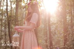 Mori girl in forest