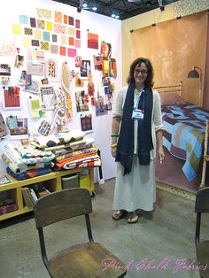 Quilt Market Spring 2012 - the amazing Denyse Schmidt showing her new collection Chicopee