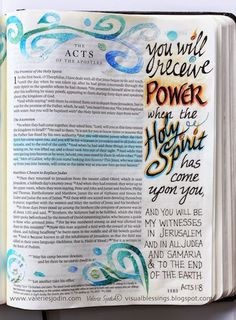 visual blessings: When the Spirit Comes - Bible Art Journaling