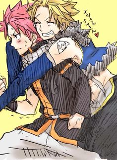 Natsu and Sting/ fairy tail Fairy Tail Gray, Natsu Fairy Tail, Fairy Tail Mystogan, Fairy Tail Cobra, Fairy Tail Dragon Slayer, Fairy Tail Ships, Fairy Tail Anime, Sad Fairy, Love Fairy