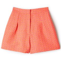 Sophie Hulme Geometric Woven Shorts ($382) ❤ liked on Polyvore