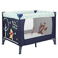 Disney Winnie the Pooh Naptime Travel Cot Navy | Travel Cots | ASDA direct