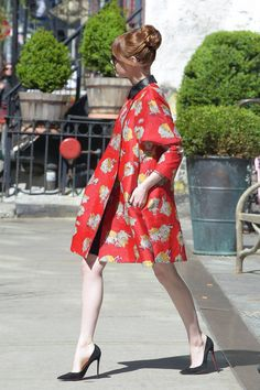 Emma Stone's The Amazing Spider-Man 2 style keeps getting chicer. See all of the amazing looks here.