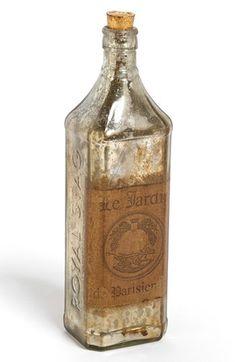 Import Collection Decorative Mercury Glass Bottle