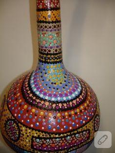 Cıvıl cıvıl renkli su kabağı süslemeleri