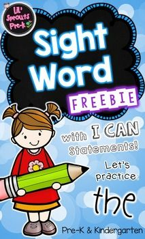 "Please consider taking a second to leave feedback if you download this product for free.  I would GREATLY appreciate it!  Thanks!!  :)Doing sight word activities?  Here is an awesome printable to help teach your kids the word ""the.""  If you like this freebie, check out the complete set by clicking below!!"