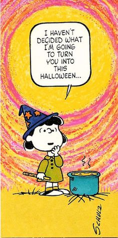 VTG Peanuts Halloween Card ©1952 Lucy Unused with Envelope | eBay