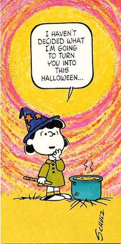 VTG Peanuts Halloween Card ©1952 Lucy Unused with Envelope | eBay