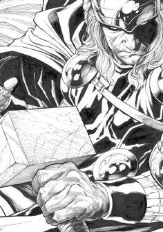 Thor Art Print Original by StoreyDavid on Etsy, Comic Book Artists, Comic Book Characters, Comic Artist, Comic Books Art, Arte Viking, Marvel Art, Thor Marvel, Cartoon Art, Minions