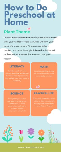 How to Do Preschool at Home (Plant Theme)