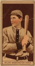 1912 Brown Backgrounds T207 #123 Clyde Milan Front