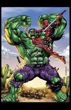 Hulk vs Deadpool colors by seanforney.deviantart.com on @DeviantArt